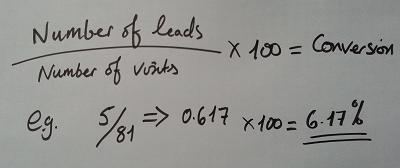 conversion calculation example