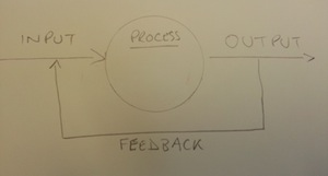 An active system with feedback loop