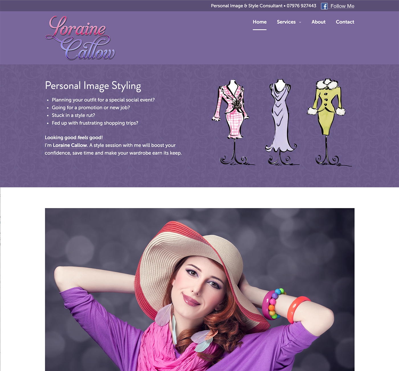 Loraine Callow website design