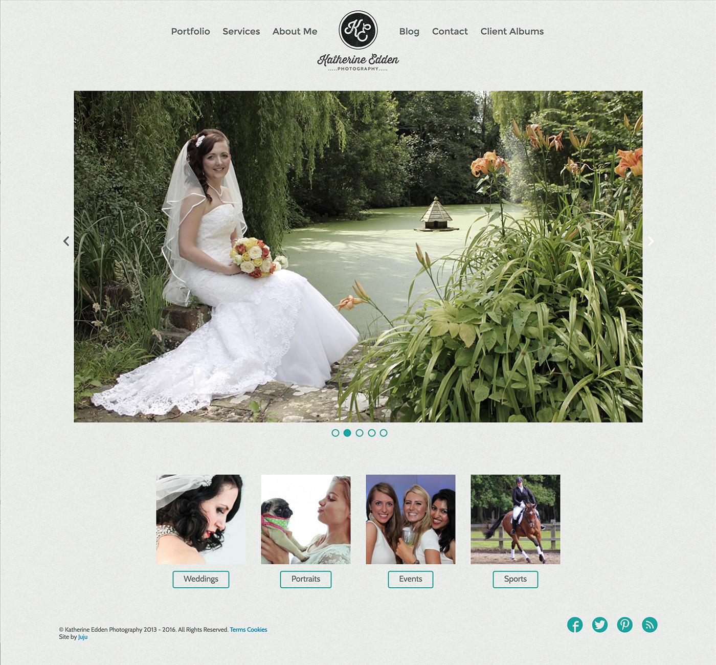 Katherine Edden website design